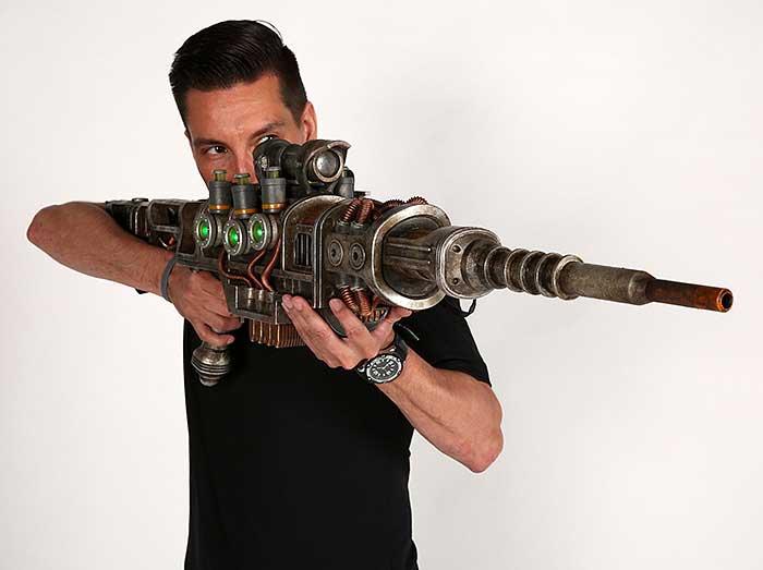 fallout  plasma rifle replica wont shoot  eye  technabob