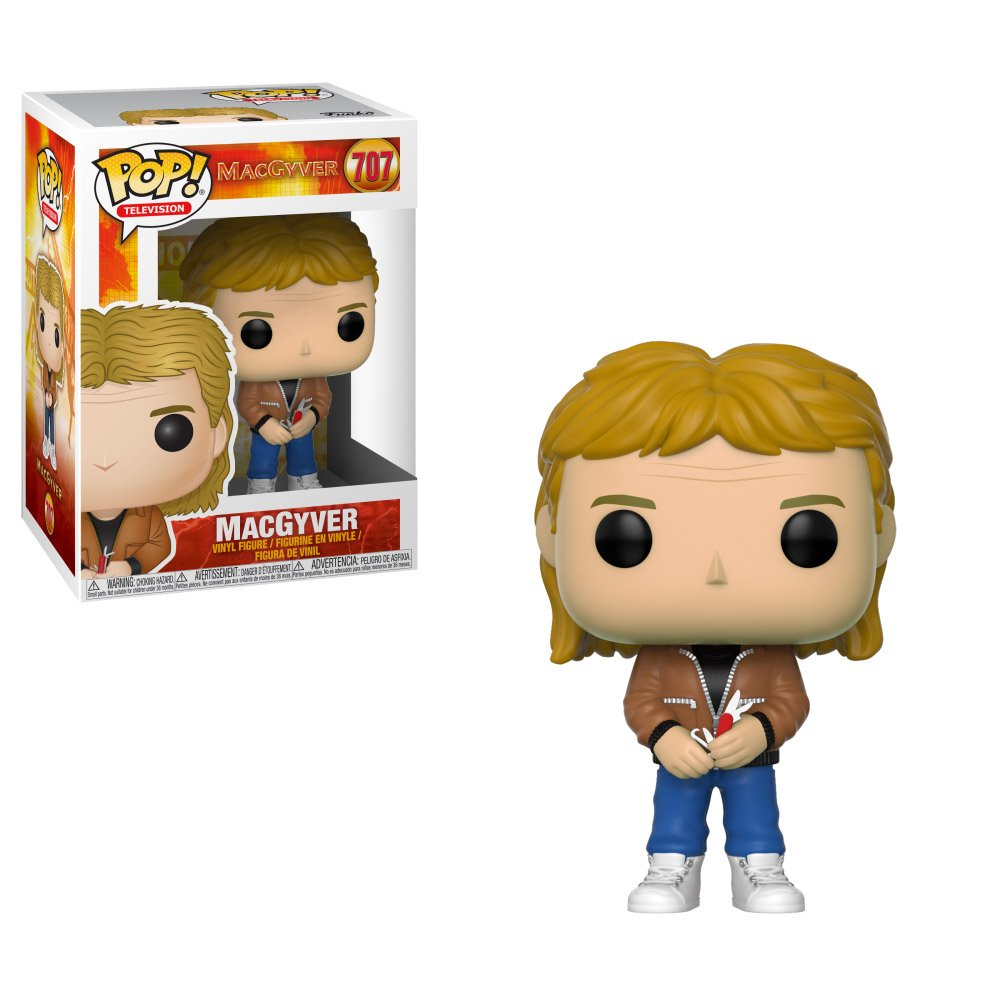 Macgyver Pop Action Figure Is Business In The Front