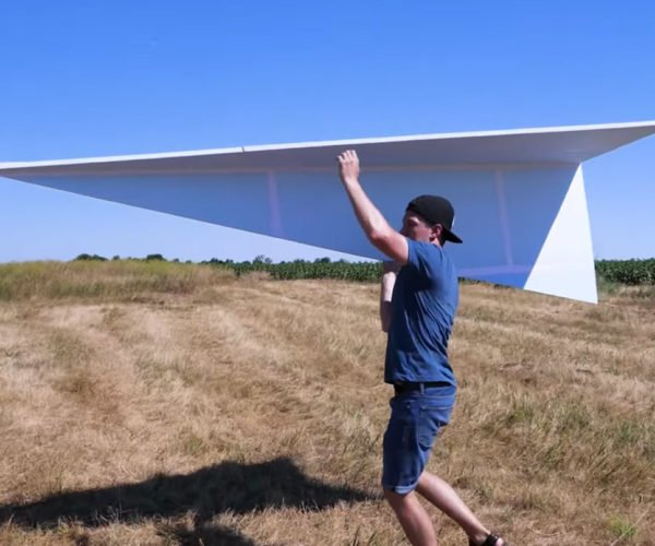 "Gigantic 122-inch ""Paper"" Airplane Takes Flight"