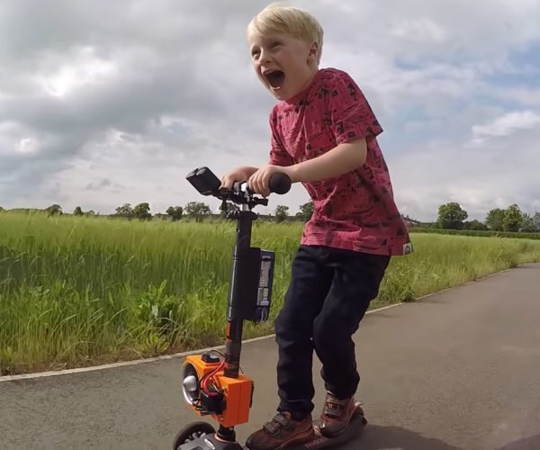 Colin Furze Creates Jet Powered Micro Scooter for His Kid