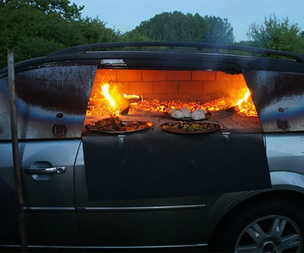 Artist Turns Car into a Pizza Oven on Wheels