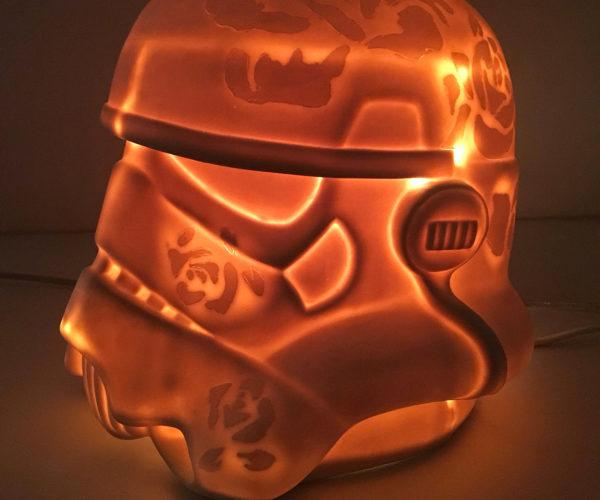 Porcelain Stormtrooper Lamp: The Empire Lights Back