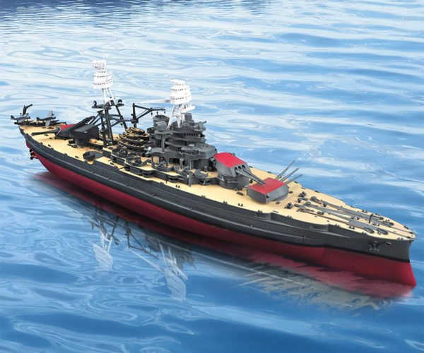 3-foot-long USS Arizona Model Sets Sail via Remote Control