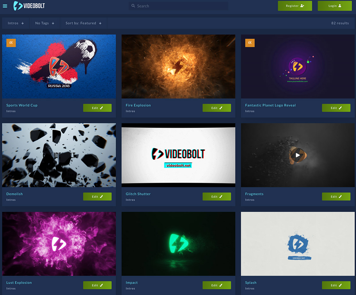 add professional motion graphics to your videos quickly and easily