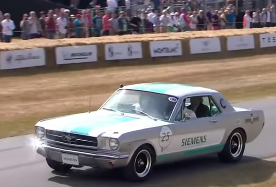 Siemens' 1965 Mustang to drive itself on the Goodwood's hill climb course
