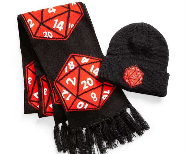 Crit Success D20 Beanie and Scarf Has 1-in-20 Chance of Keeping You Warm