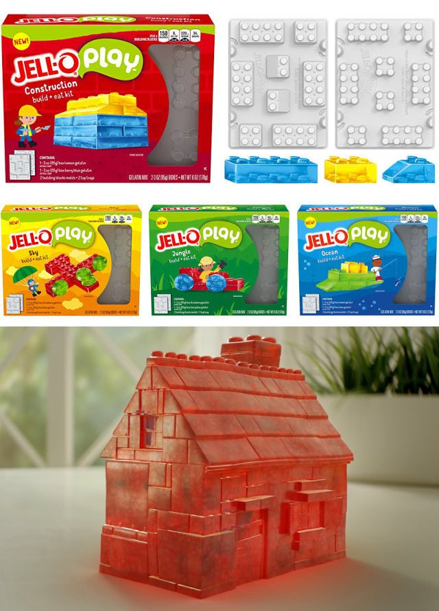 These Jell O Molds Make Lego Like Building Blocks