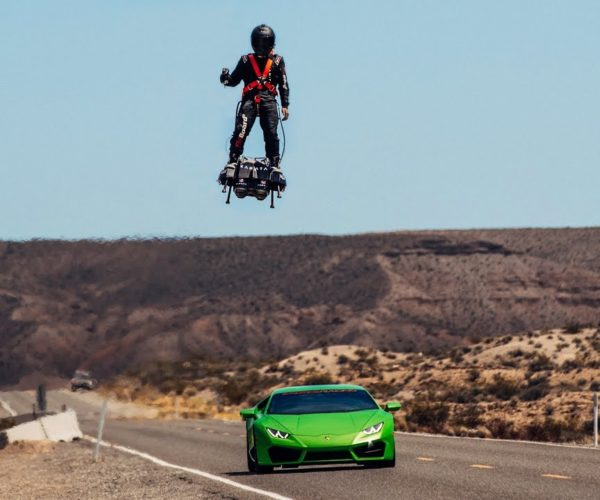 Guy Flies Jet-powered Hoverboard at More than 100 mph
