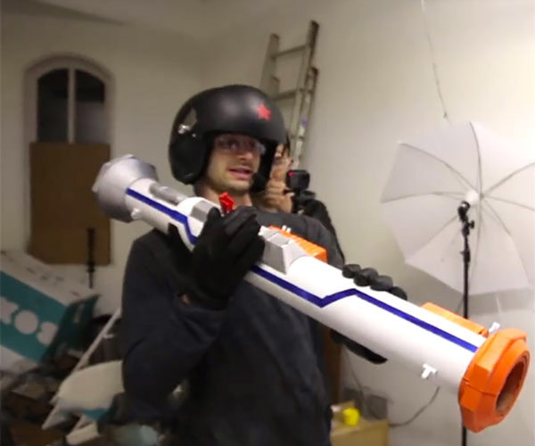 This NERF-inspired Bazooka Is Anything But Safe
