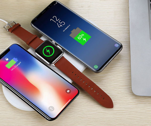 This Wireless Charging Pad Charges 3 Devices at Once