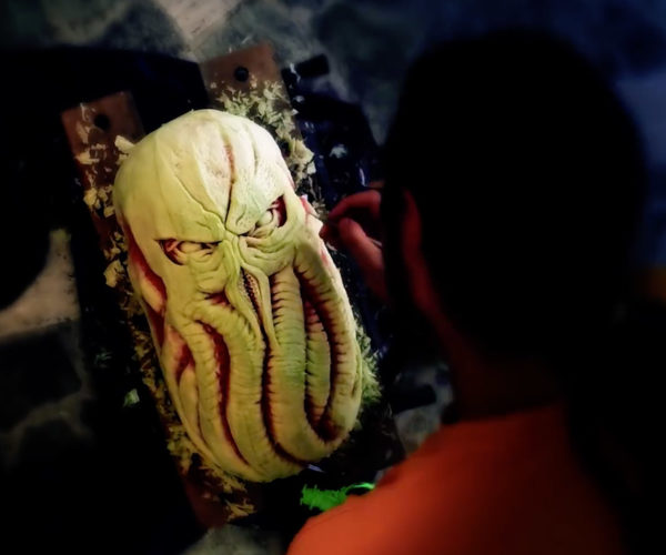 Cthulhu Carved out of a Watermelon Will Haunt Your Dreams