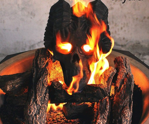 These Flaming Demon Fireplace Skulls Will Terrify Your Neighbors