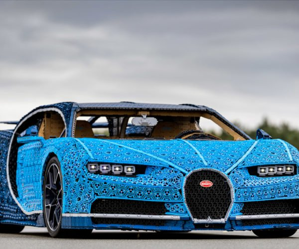 This Life-size LEGO Bugatti Chiron Looks Incredible, and Really Can Drive