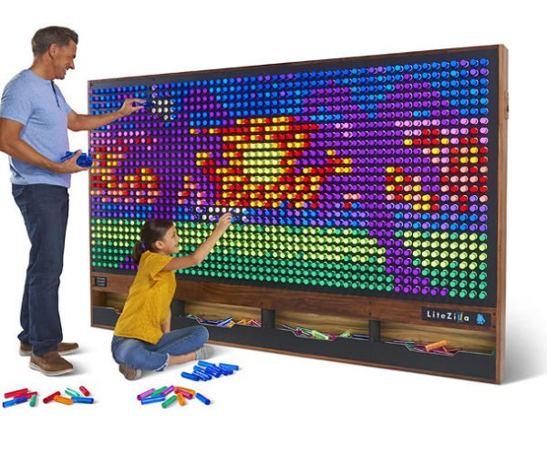 The LiteZilla Is Like a Giant Lite Brite