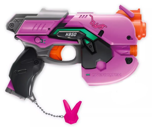 NERF Rival Overwatch D.Va Light Gun Blaster Is a Pink Nightmare