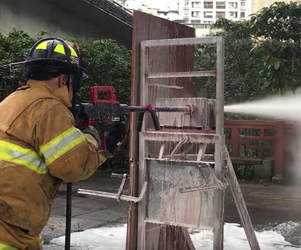 Firefighting PyroLance Can Cut Through Steel to Extinguish Blazes