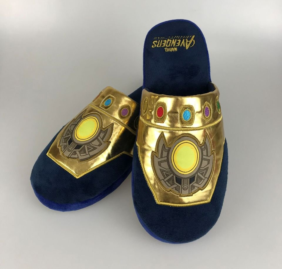 8e4e2ce1b6e7d1 Infinity Gauntlet Slippers  The Power to Rule the Floor