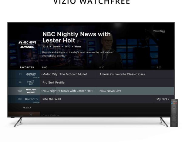Vizio Adds Free TV Channels to Its SmartCast TVs with WatchFree