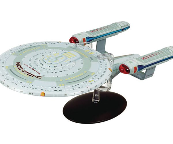 Star Trek Enterprise C Metal Sculpture Boldy Goes Where All Knick-knacks Go