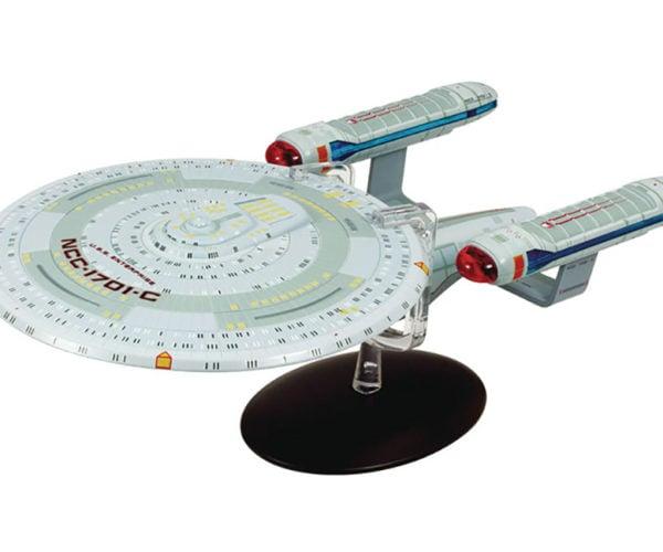 Star Trek Enterprise C Metal Sculpture Boldy Goes Where All Knick-knacks Go