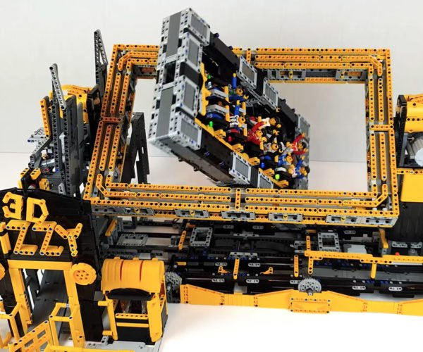 This Spinning 3-Axis LEGO Thrill Ride Makes Minifigs Dizzy