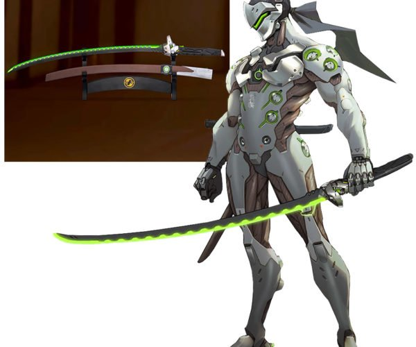 Overwatch Genji Sword Replica Glows Green and Makes Sounds
