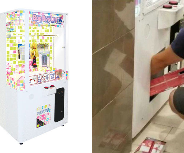 Awful Dad Uses Toddler to Steal from Prize Machine