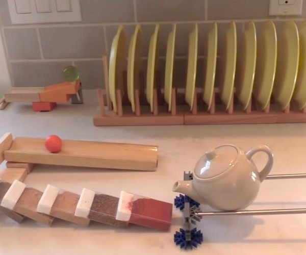 This Rube Goldberg Machine Takes 9 Minutes to Pour a Glass of Lemonade