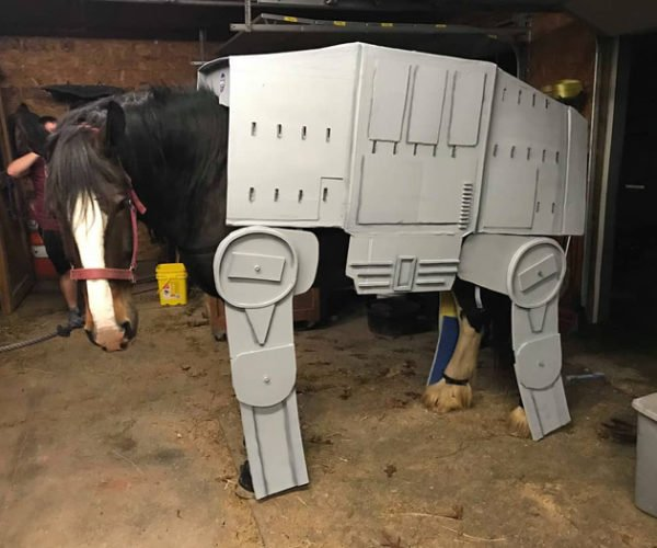 AT-AT Horse Cosplay: The Empire Bucks Back