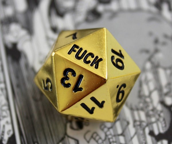 Critical Failure D20 Dice Drop the F Bomb