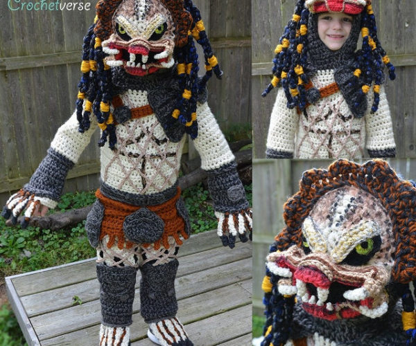 Crocheted Predator Halloween Costume Is Cute and Creepy