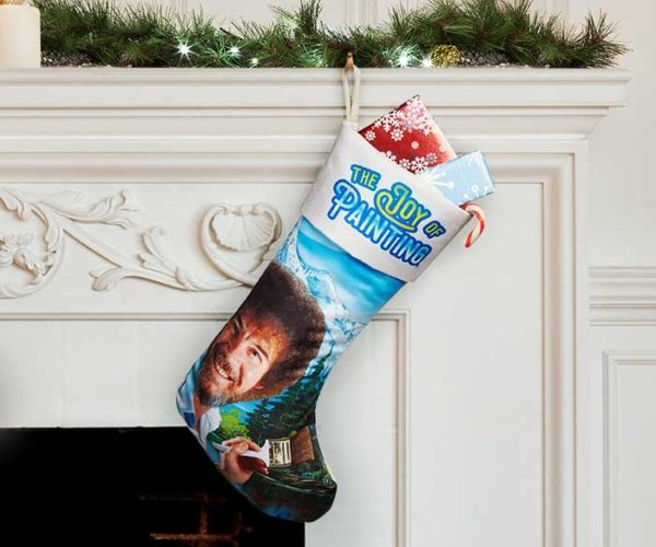Bob Ross Christmas Stocking is for Happy Little Presents
