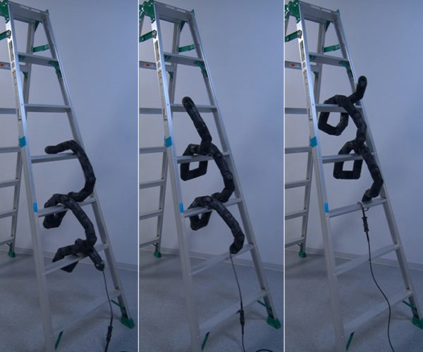 This Ladder-Climbing Snake Robot is Creepy as Hell