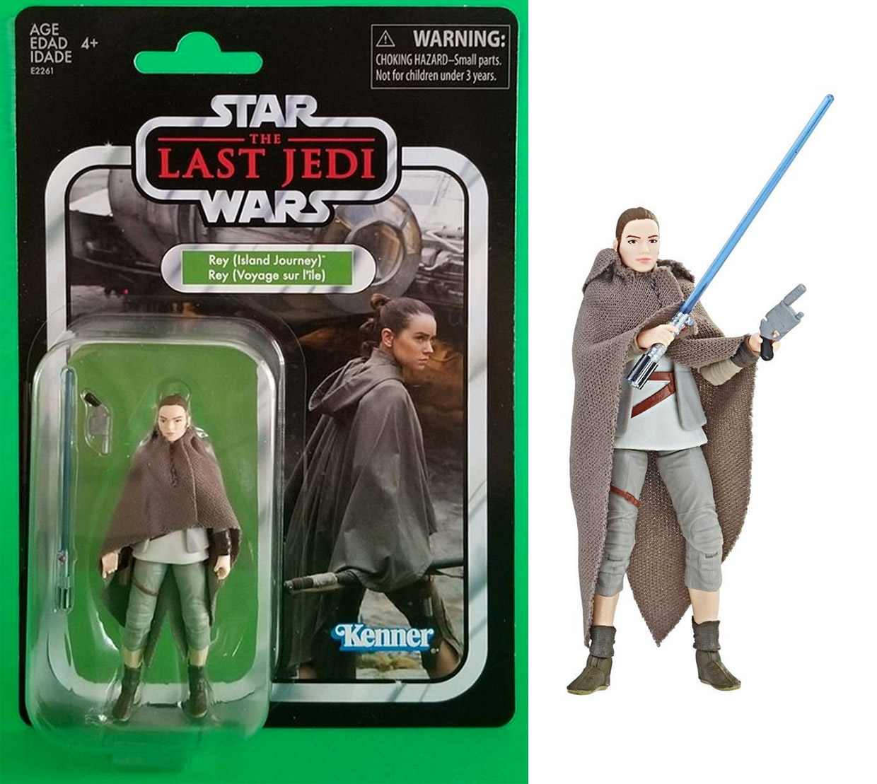 Star Wars The Vintage Collection Rey Action Figure Looks Like the '70s - Technabob