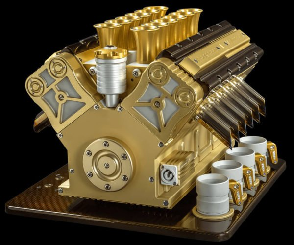 This V12 Espresso Machine Is Made with Gold and Diamonds