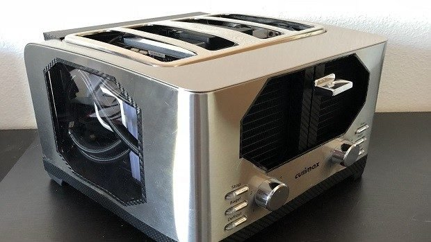 Inside Of A Toaster ~ Guy builds a gaming pc inside of toaster technabob