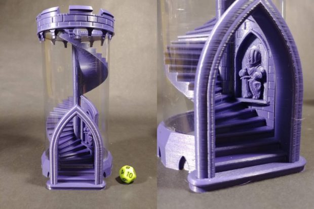Revered image with 3d printable dice tower