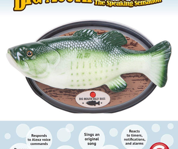 Alexa-Enabled Big Mouth Billy Bass Now at Amazon