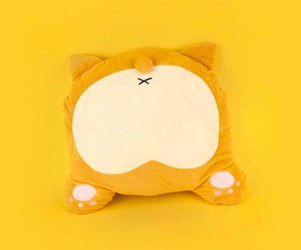 Corgi Butt Heated Pillow Warms Your Buns with Dog Buns