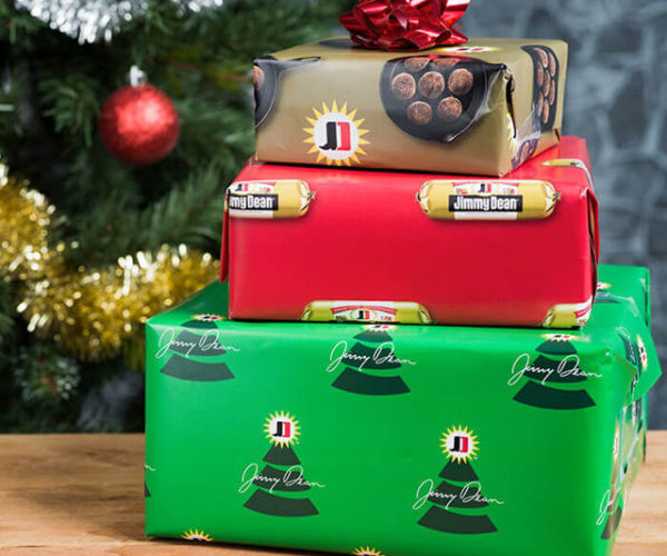 Jimmy Dean Sausage Scented Gift Wrap: Don't Shake Your Boxes, Smell 'Em