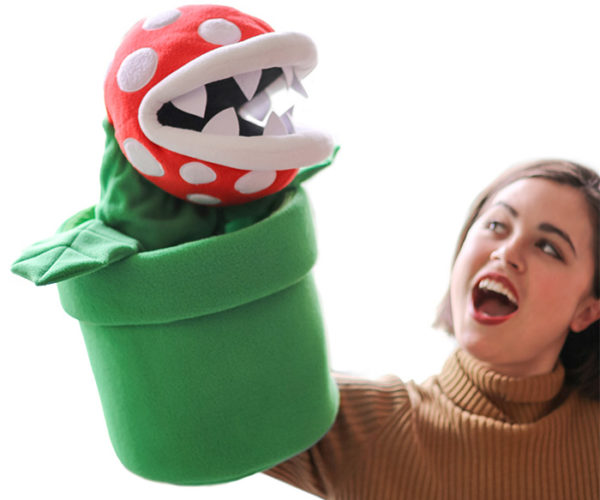 Super Mario Piranha Plant Puppet Doesn't Shoot Plush Fireballs