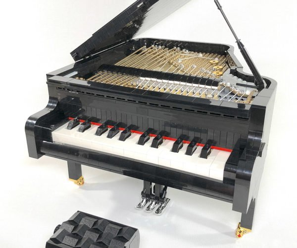 Working LEGO Grand Piano Is a Baby Baby Grand