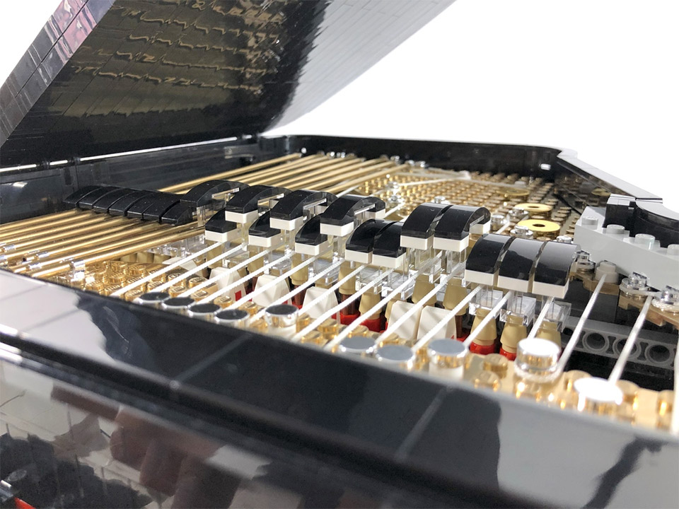 Working LEGO Grand Piano Is a Baby Baby Grand - Technabob