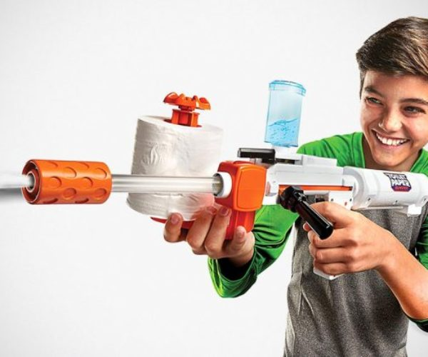 Toilet Paper Blaster Skid Shot Lets You Wipe Your Friends' Behinds (with Spitballs)