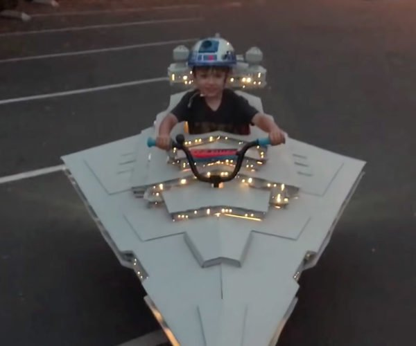 Star Destroyer Bicycle Costume Is The Empire's Greatest Weapon