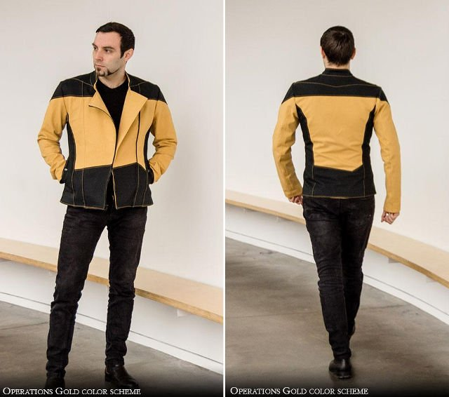 Star Trek Tng Uniform Denim Jackets The Denim Generation