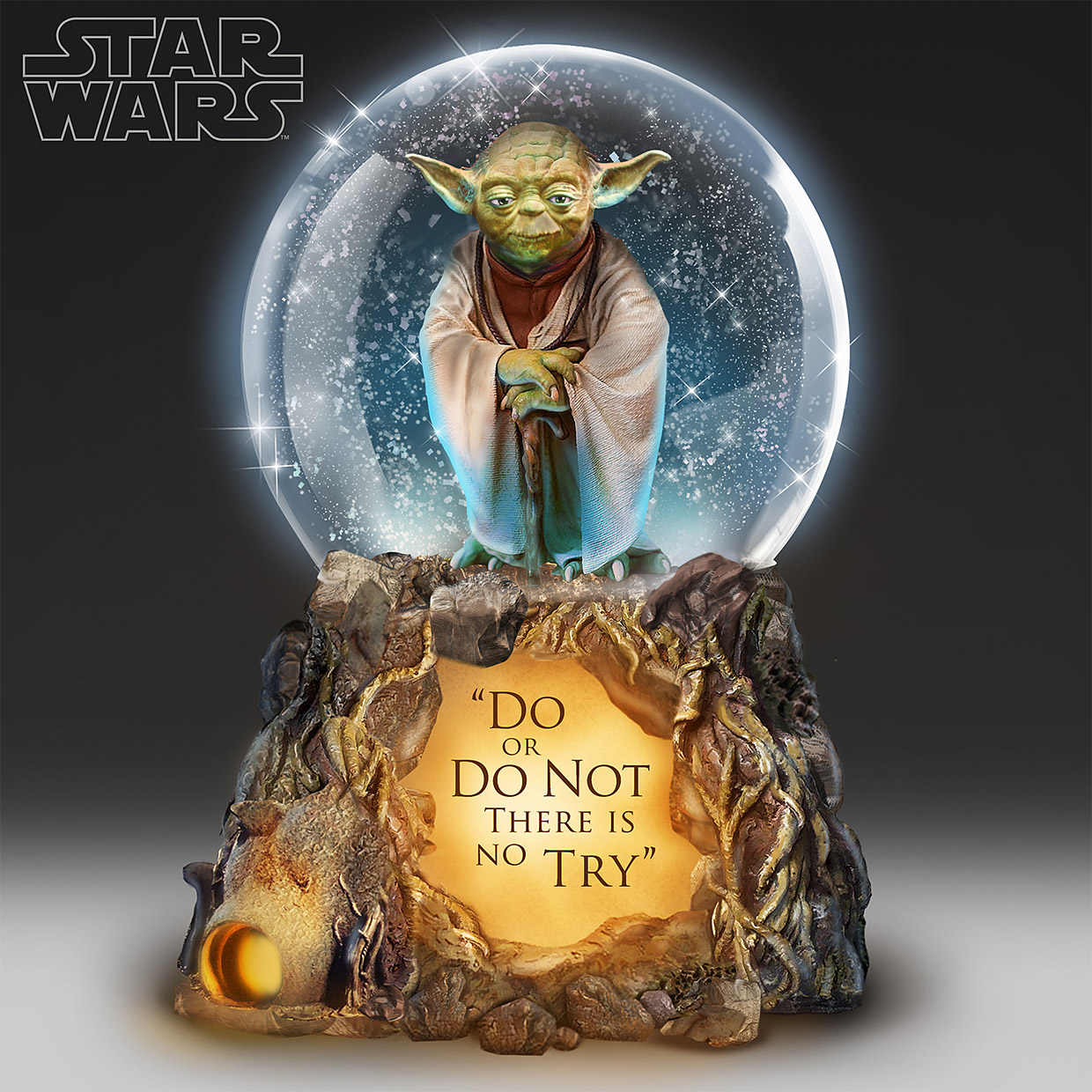 512bcdd5e This Musical Yoda Glitter Globe, You Must Have
