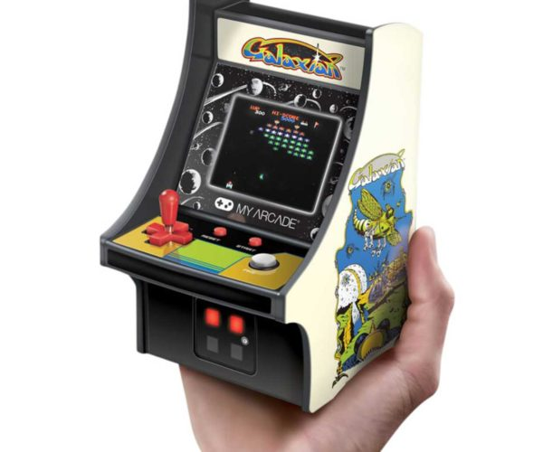 Handheld Galaxian Arcade Game Channels Tiny '80s Nostalgia