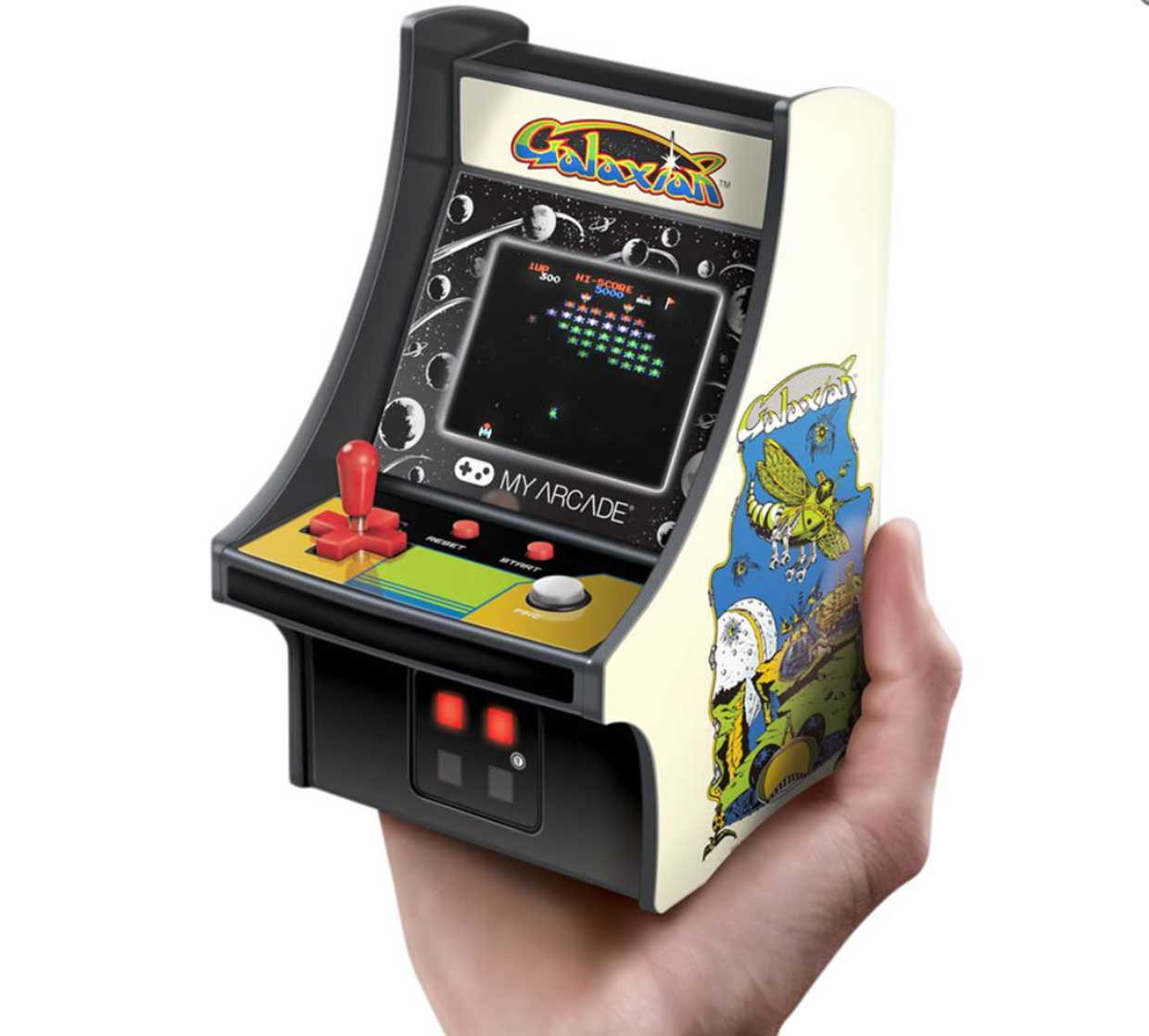 Handheld Galaxian Arcade Game Channels Tiny 80s Nostalgia