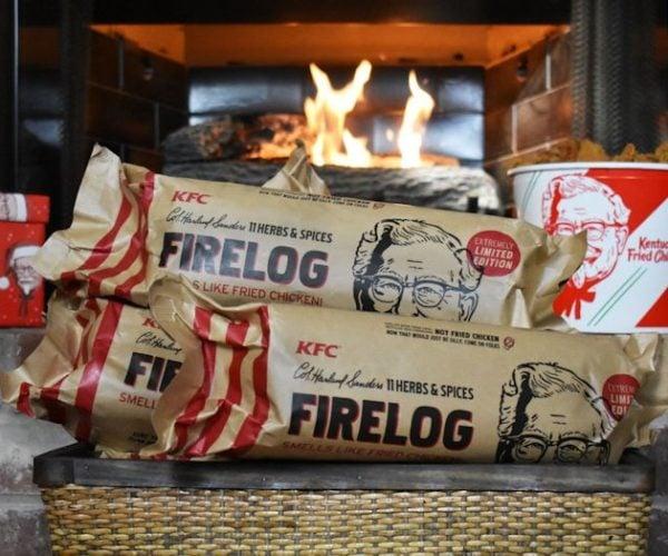 This KFC Firelog Smells Like Fried Chicken